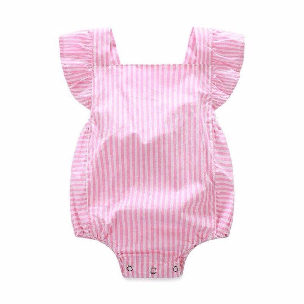 Детские Детская одежда для девочек Комбинезон розовый одежда в полоску комбинезон, костюм; пляжный костюм; ...