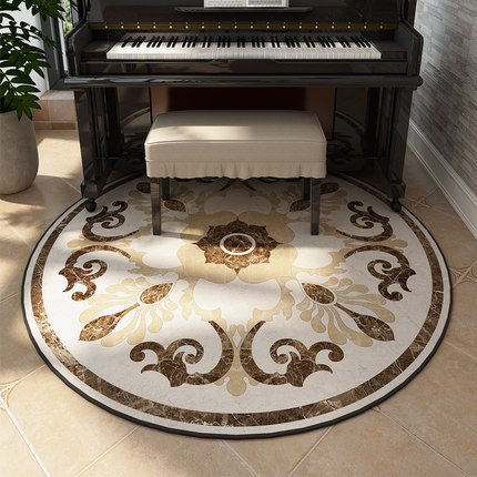 American style mosaic round carpet bedroom sofa coffee table study balcony hanging basket computer swivel chair round carpet fl in Carpet from Home Garden