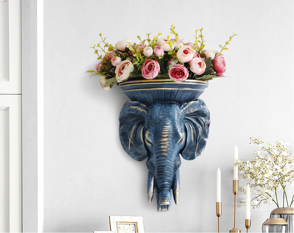 Attractive Animal Head Home Decor Flower Vase free Shipping
