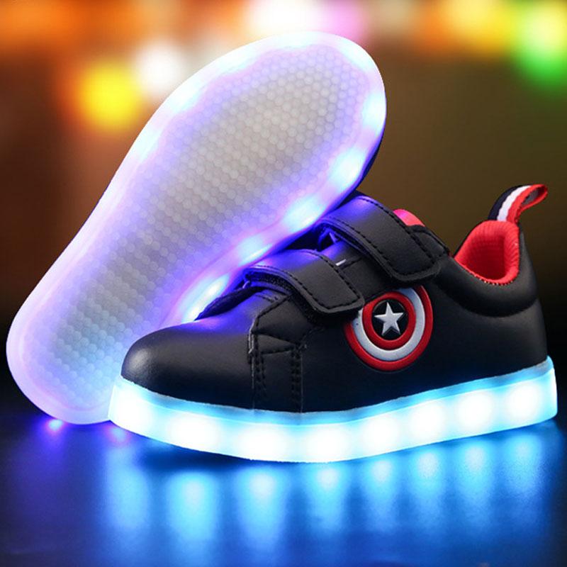 Ładowarka USB świecące trampki Lekkie dziecięce buty dla - Obuwie dziecięce - Zdjęcie 3