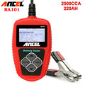 Auto Battery Tester Ancel BA101 Car Battery Tester 12V Automotive Vehicle BA101 Battery Analyzer 100-2000CCA 220Ah Scanner Tools