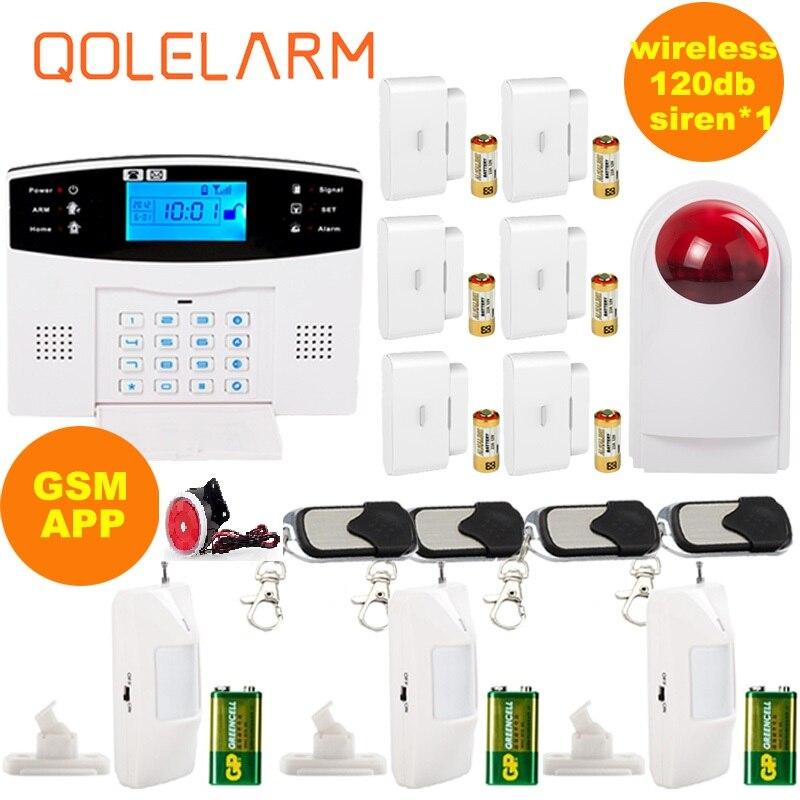 Russian Spanish voice prompt Intercom SIM GSM Wireless Alarm System APP control Smart Home Burglar Security