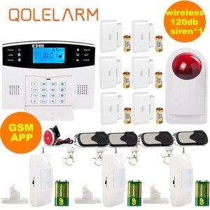 Russo/Espanhol prompt de voz Interfone SIM controle APP Sistema De Alarme Sem Fio GSM Smart Home Kit Sistema de Alarme Contra Roubo de Segurança