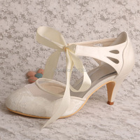 14 Colors Magic Custom Handmade High Quality Women Shoes Heels Wedding White Satin Lace Up