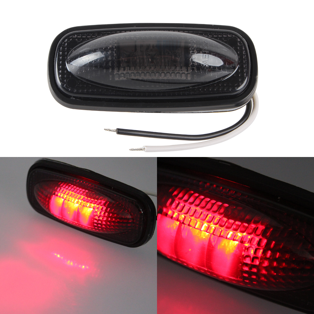 1PCS 12V Truck Clearance Light Car Waterproof Side Marker Lights Trailer LED Warning Lamp Bulb 2pc led trailer truck clearance side marker light 12v 24v submersible width lamp clearance lamp car styling turck side light