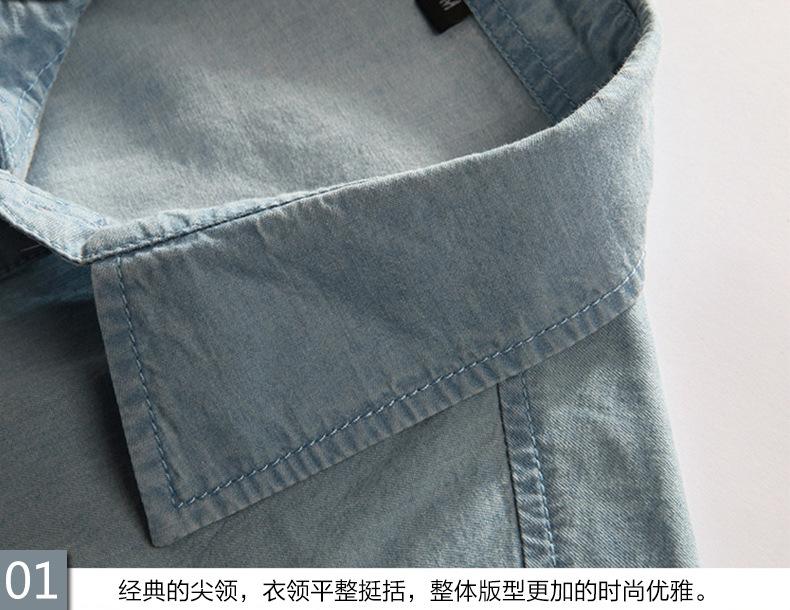 New Men's Denim Shirts Men Wear Loose Big Yards Short Sleeves Cotton Shirt Men Plus Size XL L-4XL 5XL 6XL 7XL 8XL 5z 9