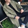 Hombres otoño chaqueta masculina Coreano hombres larga delgada joven vestido de moda casual
