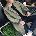 Men fall jacket male Korean men long thin slim young casual fashion gown