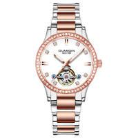 GUANQIN GJ16102 watch women luxury brand Tourbillon Mechanical Women's Automatic watch Dress famous pearl dial Relogio Feminino
