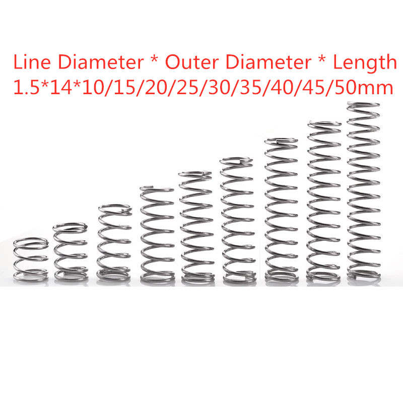 Wire dia 0.8mm OD 10-14mm Long 10-50mm 304 Stainless steel Compression Spring