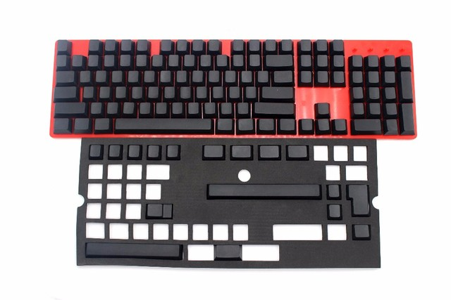US $29 6 |NPKC 121 key Single Color Cherry Profile Blank Thick PBT Keycaps  ANSI ISO for Cherry MX Switches of Mechanical Keyboard -in Keyboards from
