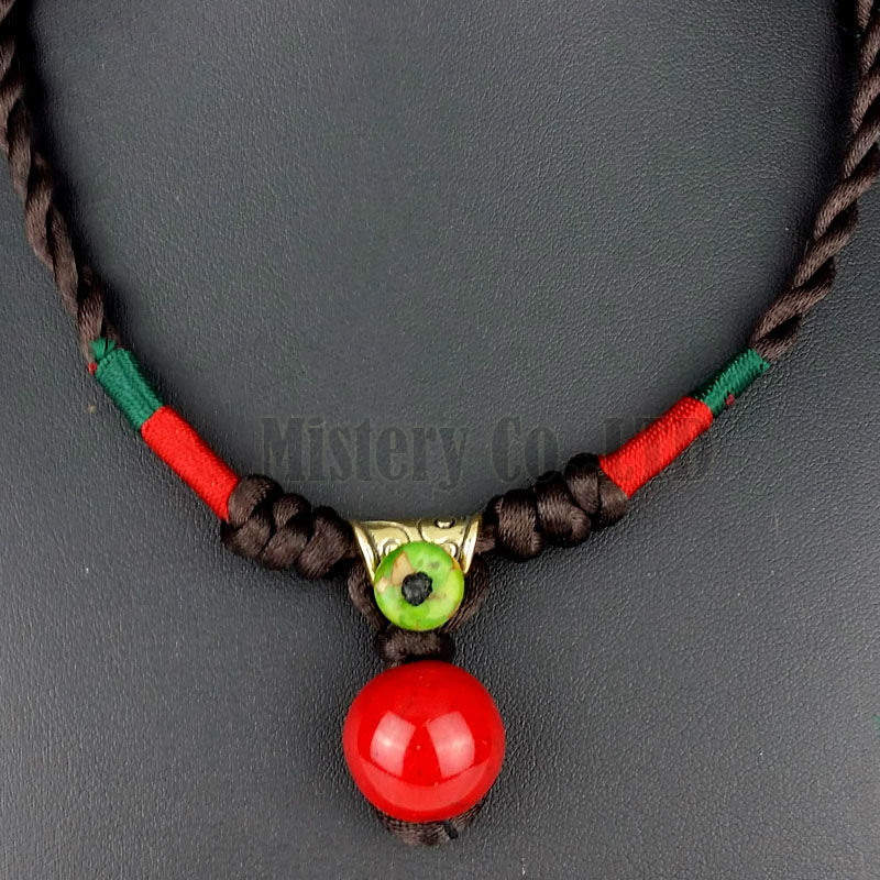 Red Chandelier India: Cute Vintage Braided Rope Hand Made Red Ball Pendant