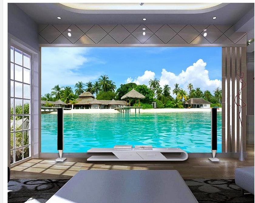 3d стереоскопические обои для домашнего декора, прозрачные фотообои с изображением воды, фотообои на стену