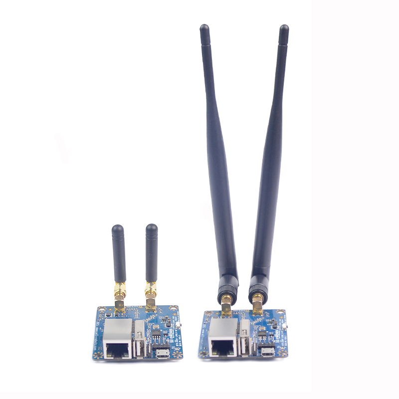 Xiao R Dual Antenna Wifi Module Video Transmission Network Port To Serial Port With 300M Bandwidth 5dBi Long / 2dBi Short Double hlk rm04 uart serial port to ethernet embedded wifi module wireless network converter module with pcb antenna q013