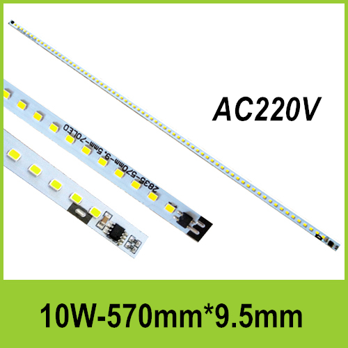 250pcs 10W T5 T8 LED Tube PCB ac 220V LED Strip Light Bar Driverless with SMD2835 Chip W ...