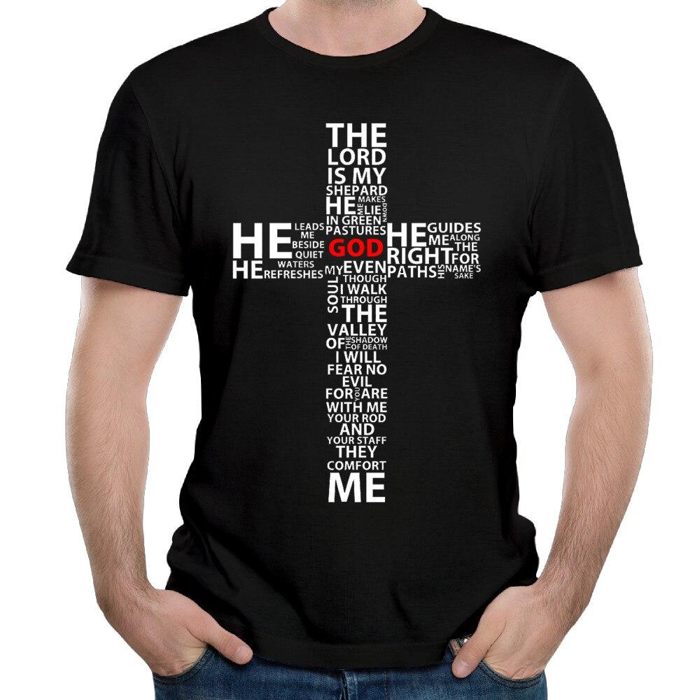 God Jesus Cross Bible Cotton Printed Mens   T     Shirt   Custome Short Sleeve Casual Men   T  -  shirt   Men's Tee   Shirts   Tops Hipster Camiseta