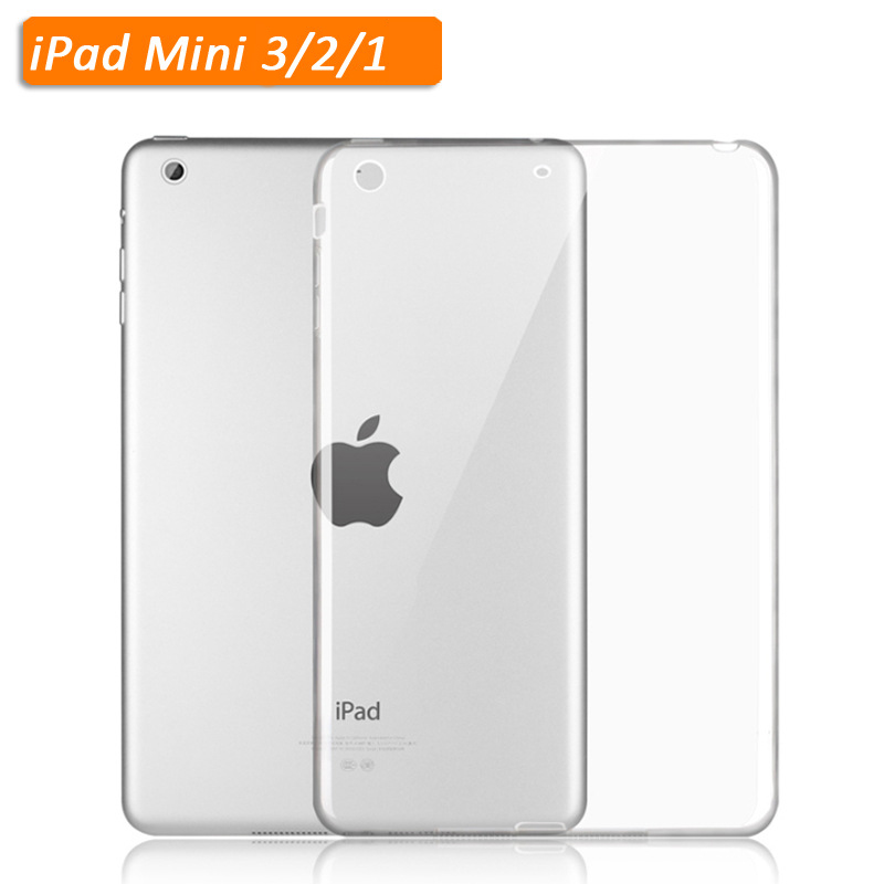 TPU Soft Case Cover for Apple iPad Mini 1 2 3 Clear Back Cover Transparent Gel Silicone Ultra Thin Slim Shell 7.9 inch + Stylus ynmiwei tablet case for ipad pro 9 7 inch 2016 clear transparent ultra thin shell accessories protector