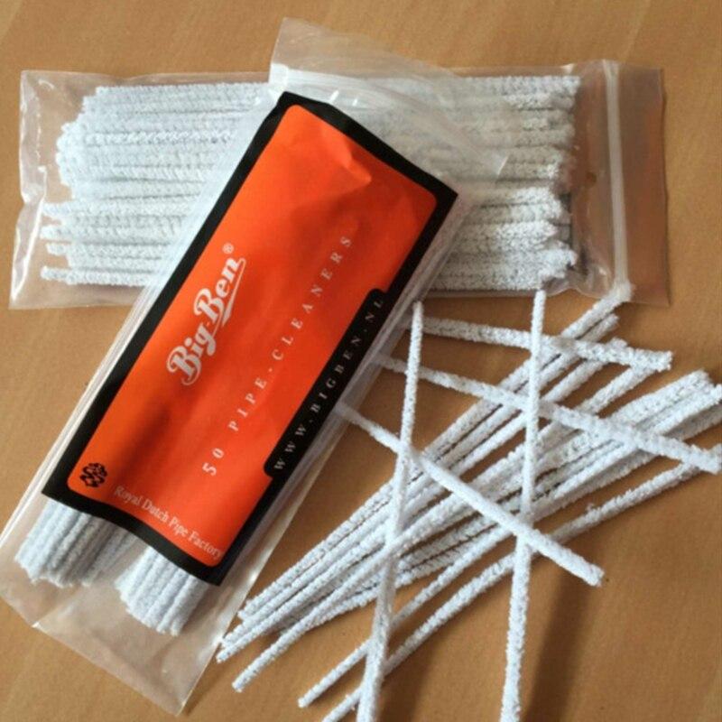 50 stücke Praktische Rohr Rohr Reiniger Tabak Stick Stangen Reinigung Stange Werkzeug