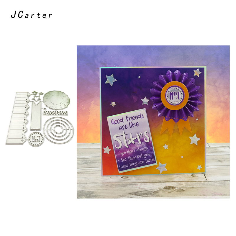 JCarter Circle Rectangle Background Metal Cutting Dies for Scrapbooking DIY Album Embossing Folder Stencils Photo Card Template