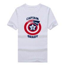 New 2017 captain Tom Brady 12 Tb shirt Cool Printed 20116 fashion patriots T-shirt 10171400