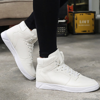 Мужская обувь, белые брендовые кроссовки для студентов, высокая обувь, швейная износостойкая Мужская Вулканизированная обувь, 2019 весна/осе...