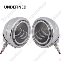 4.5LED Motorcycle Fog Light Angle Eye Auxiliary Fog Passing Lamp For Harley Electra Glide 1997 2013 Road King FLHX 2014 2019