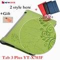 "Yaga Tab3 plus Elegant Floral PU Leather Case Flip Cover For Lenovo Yoga Tab3 Tab 3 Plus YT-X703F 10.1"" tablet  funda case Cover"