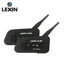 LEXIN 2PCS R6 1200M 6 Riders รถจักรยานยนต์ BT Intercom Moto Interphone ชุดหูฟัง Intercomunicador บลูทูธ Para Motocicleta