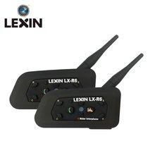 LEXIN Intercomunicador R6 Para casco de Motocicleta, auriculares con Bluetooth Para casco de Moto de 1200M, 2 uds.