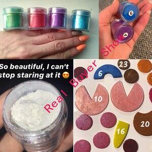 Image 5 - 10Ml Jar 24 Kleuren Mica Poeder Pigmenten ~ Natuurlijke Parelmoer Mica Poeders ~ Metallic Dye Voor Nail Cosmetische Polish zeep Maken