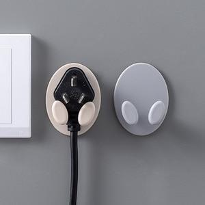 Image 3 - 1 Piece  Creative Shape Strong Hook Adhesive Multi Purpose Hooks Wall Mounted Mop Organizer Holder Plug Kitchen Bathroom Hooks