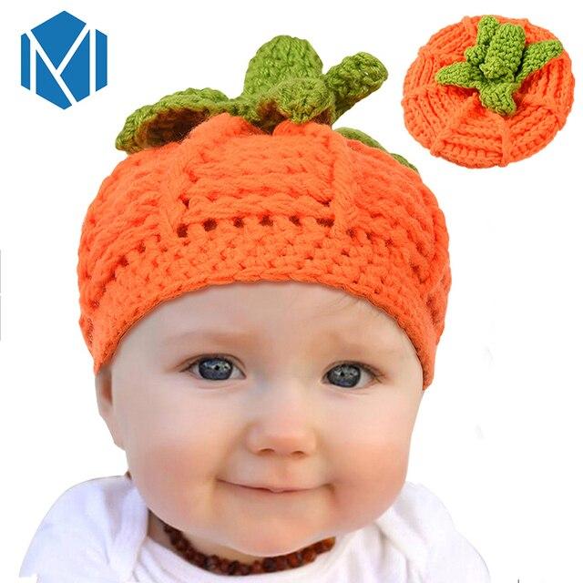 Mism Nette Halloween Kürbis Hut Baby Häkeln Beanie Kinder Winter