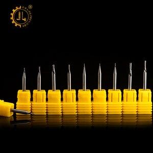 Image 2 - JIALING unten cut 1PC 3,175mm eine spirale flöte bits fräser cnc für MDF PVC sperrholz kork unten cut hartmetall schaftfräser