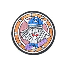Factory Custom Embroidery Patch Cute girl Cartoon Iron On Kids Applique Woman DIY can be customized with your logo No MOQ(China)