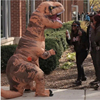 2016 Hot Adult Kids Size T REX INFLATABLE Cosplay Animal Jumpsuit Dinosaur Costume Fancy Dress Halloween