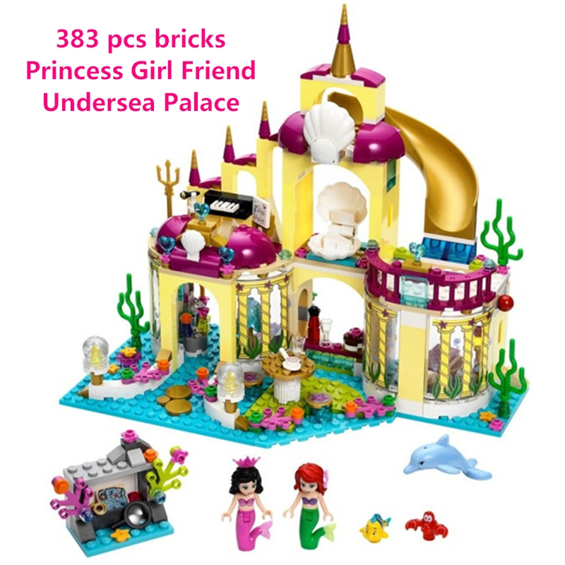 Princess Undersea Palace Girl Friends Building Blocks Toys For Children Birthday Gift Compatible with lego Lepin lepin diy girl friends series the undersea palace set castle building blocks bricks toys for children compatible with legoingly