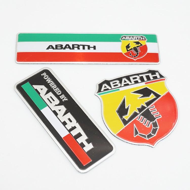 80x30mm Abarth Labeling Aluminum Alloy Badge Emblem Decal Car Sticker abarth фиат ритмо запчасть