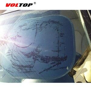 Image 5 - 2 個自動カーテンサイドウィンドウ日よけ UV 保護車のサンバイザー Windowshield 黒シールド日焼けサイドリアカバーメッシュキャップ