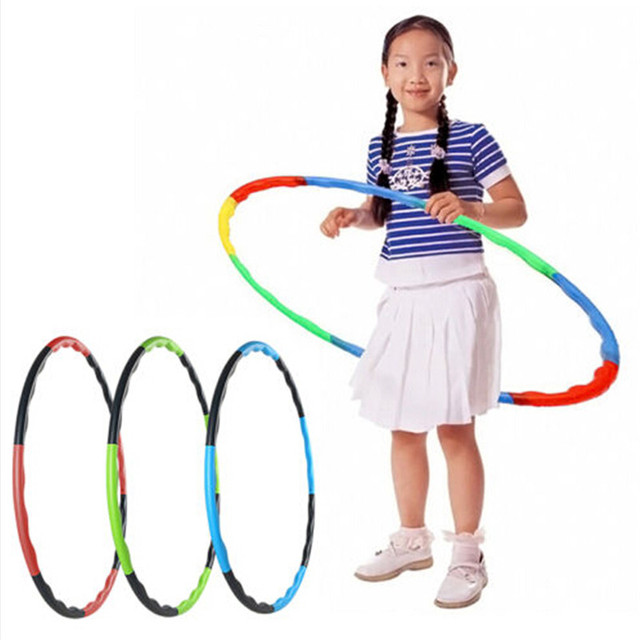 55cm Portable Removable Kids Baby Hula Hoop Children Sports Hoop Massage Hoop Hoepel Outdoor Fitness Equipments 883209