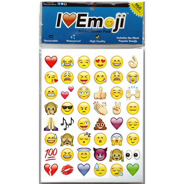 US $1 48 |48 die smile message funny five cut paste 240 classic emoticon  smiley emoji kids stickers notebook Multi China-in Stickers from Toys &