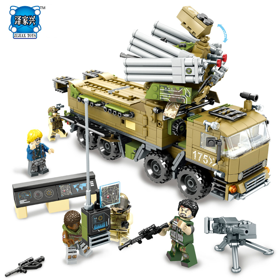 704pcs Military Army Building Blocks Brick Defense Command Mini Action Figure Enlighten Toy for Children Compatible Lepins model enlighten building blocks military cruiser model building blocks girls