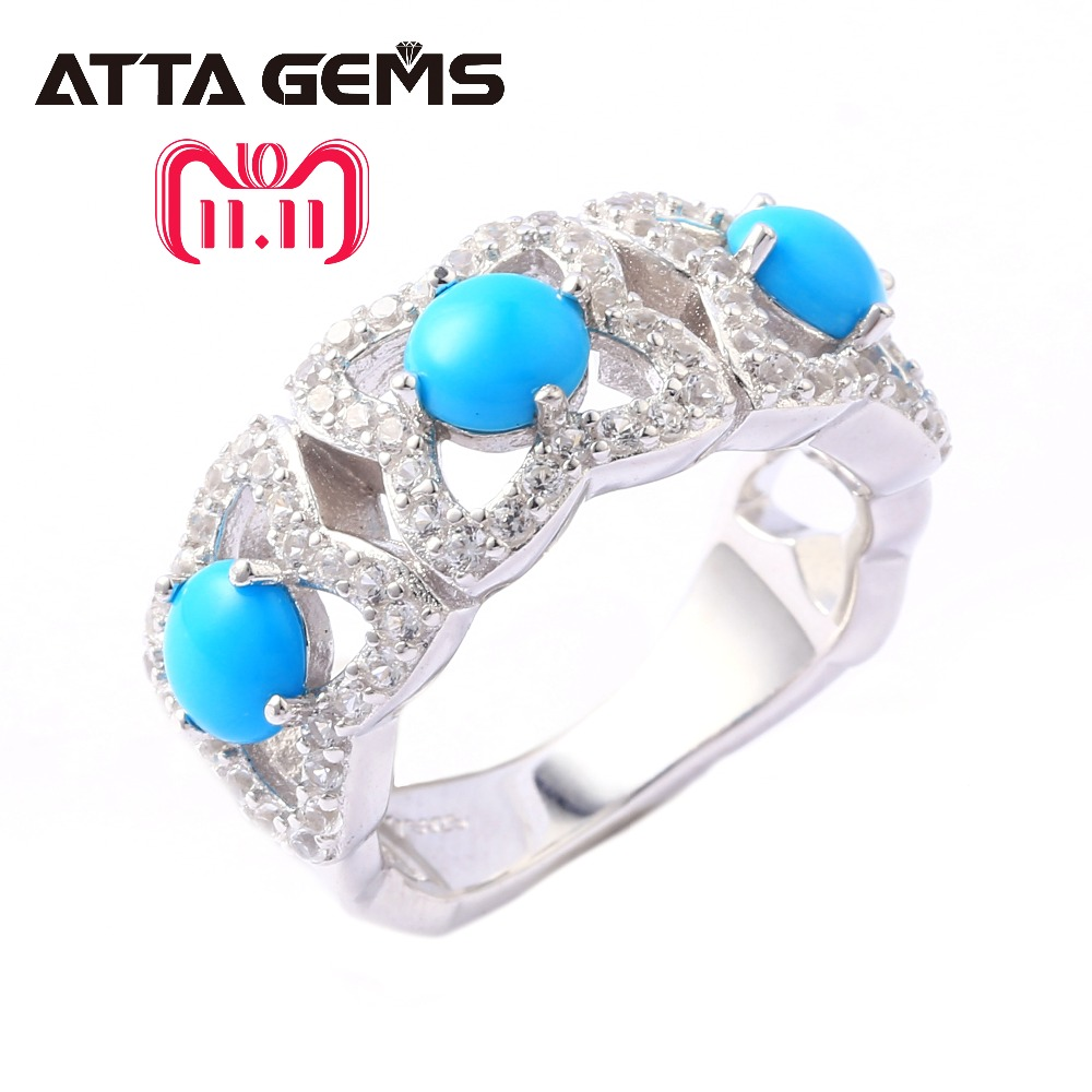 Natural Green Turquoise Sterling Silver Women's Ring 3 Carats Natural Turquoise Gemstone S925 Ring Special Design Jewelry Brand тюбинг snowshow элит 120cm turquoise silver