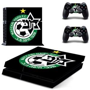 Image 3 - Наклейка на кожу Маккаби Haifa FC PS4, Виниловая наклейка для консоли Playstation 4 и 2 контроллера, наклейка на PS4