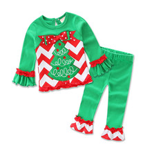 Children Clothing Set Pajamas Sets matching christmas pajamas kids 2pieces  set for boys and girls