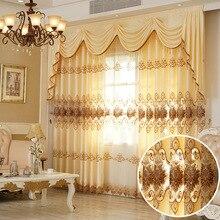Perdeler için Oturma Yemek Odası Yatak Odası Yeni Avrupa Tarzı Suda Çözünür Nakış Perde Tül Valance Pencereler için Perdeler