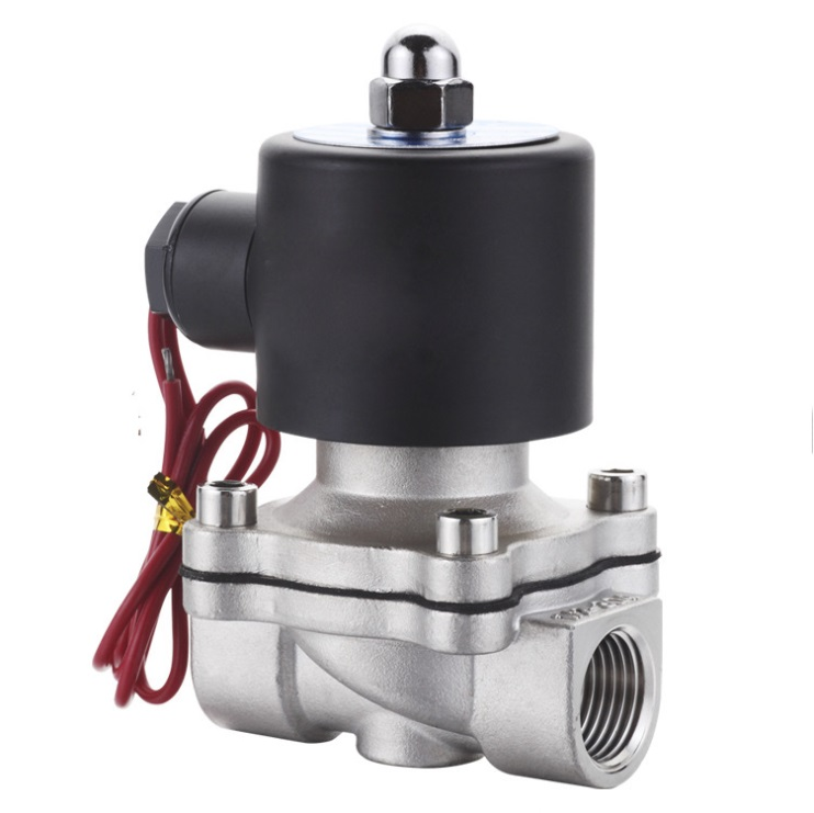 3/8 Stainless Steel Electric solenoid valve  Normally Closed 2S series stainless steel water solenoid valve tf20 s2 c high quality electric shut off valve dc12v 2 wire 3 4 full bore stainless steel 304 electric water valve metal gear