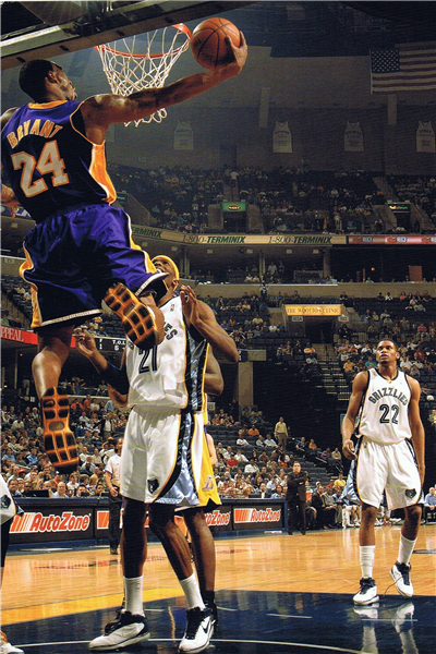 Custom canvas painting kobe bryant lakers poster slam dunk for Basketball mural wallpaper