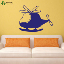 YOYOYU Wall Decal Modern Helicopter Vinyl Stickers For Kids Rooms Baby Nursery Decoration Interior Design Gift Mural CY239