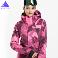 VECTOR Professional Women Ski Jacket Windproof Waterproof Winter Coats Warm Outdoor Sport Snow Skiing Snowboarding Clothing