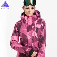 VECTOR Professional Women Ski Jacket Windproof Waterproof Winter Coats Warm Outdoor Sport Snow Skiing Snowboarding Clothing